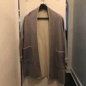 Zara TRF Light grey Long sweater size s